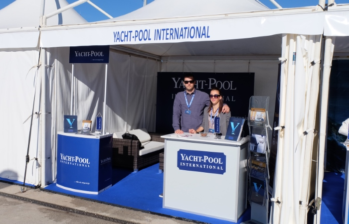 Yacht-Pool booth at 18. Biograd Boat Show 2016.