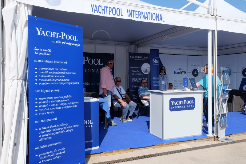 Yacht-Pool booth Biograd Boat Show 2017.