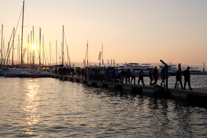 Yacht-Pool at 19.0 Biograd Boat Showu 2017. dusk