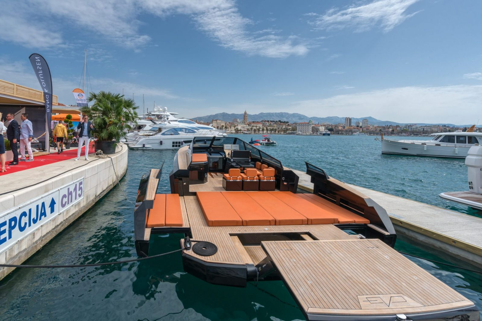 Croatia Boat Show 2018. Split PYI waterfront