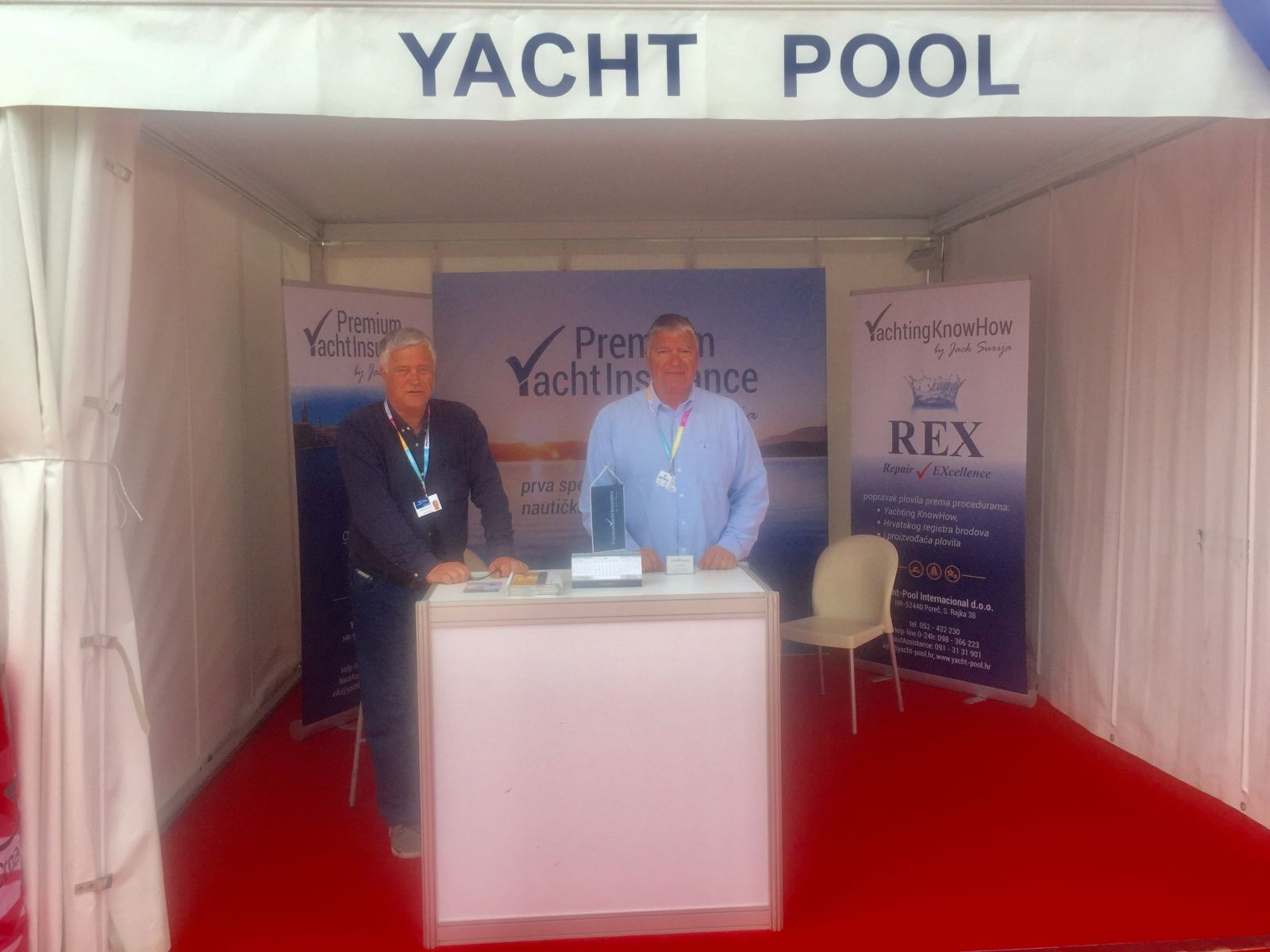 Croatia Boat Show 2018. Premium Yacht Insurance by Đek Šurija štand