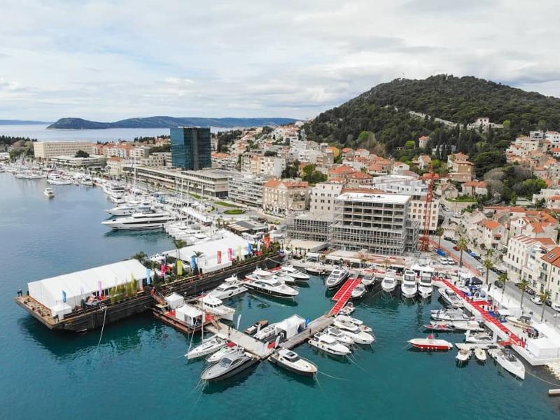 21. Croatia Boat Show Split Zapadna obala fotografija iz zraka