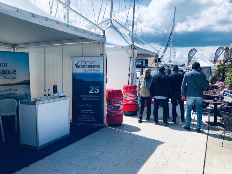 Premium Yacht Insurance by Đek Šurija štand na sajmu Croatia Boat Show 2019.