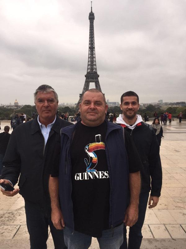 Yacht-Pool tim Đek, Miško, Marijan u Parizu 2016 studijko putovanje