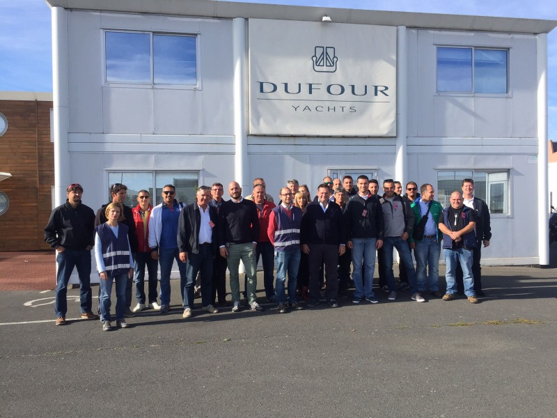 Yacht-Pool group study tour Dufour