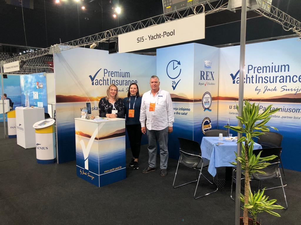 Premium Yacht Insurance by Jack Šurija booth at ICE'18