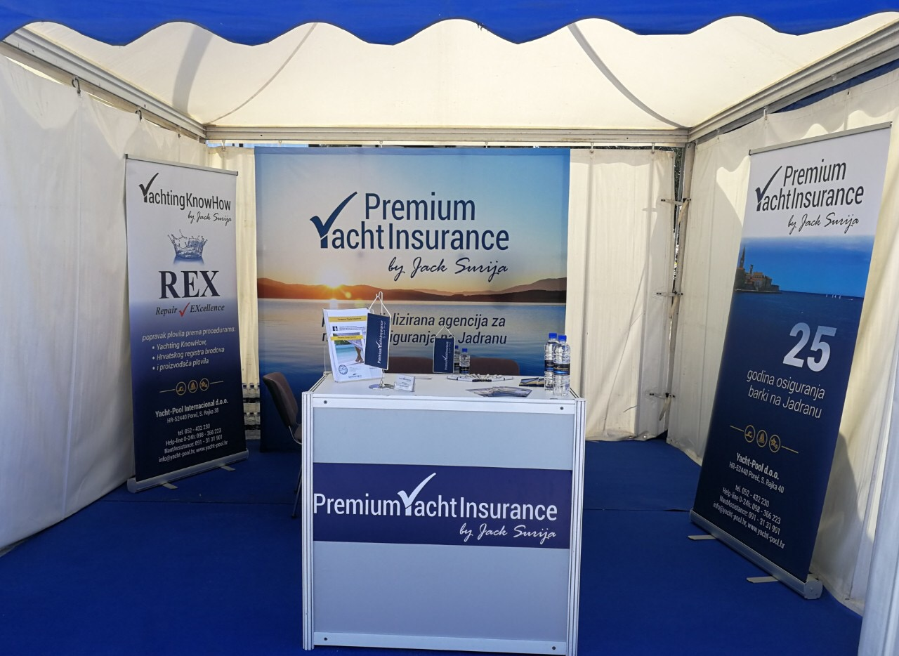 PYI booth at the boat show Nautica Marina Portorož 2019