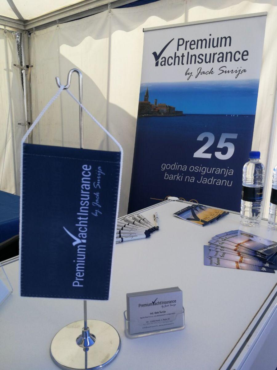 Premium Yacht Insurance, by Đek Šurija, štand na sajmu Nautica Marina Portorož