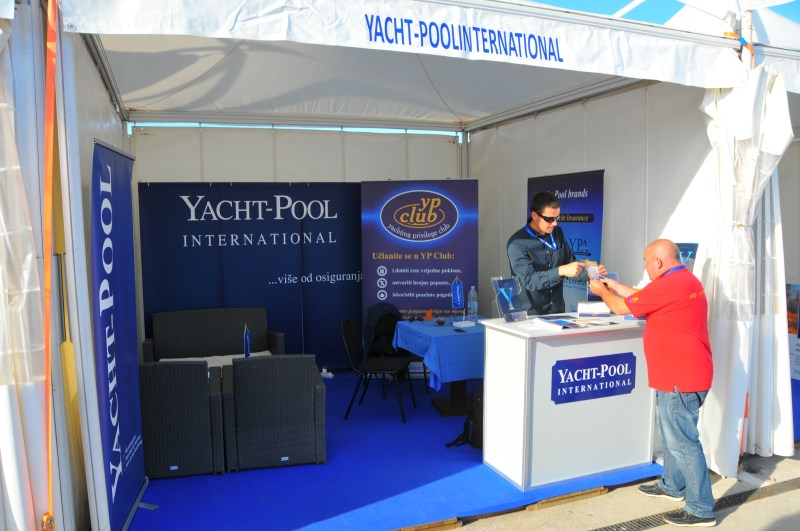 Yacht-Pool booth at 17th Biograd Boat Show 2015