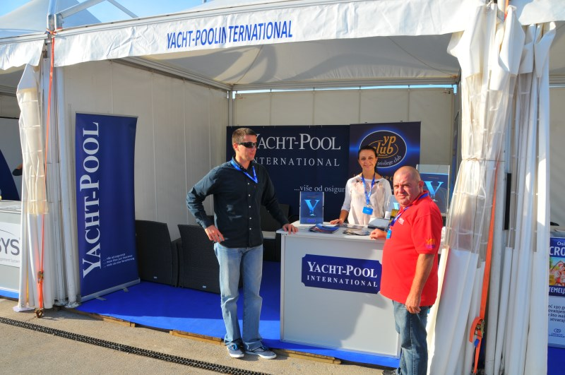 Yacht-Pool booth at the fair 17th Biograd Boat Show 2015.