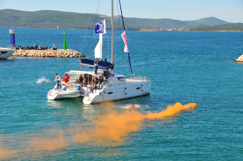 Yacht-Pool Safety at Sea smoke signals at 17th BBS 2015.