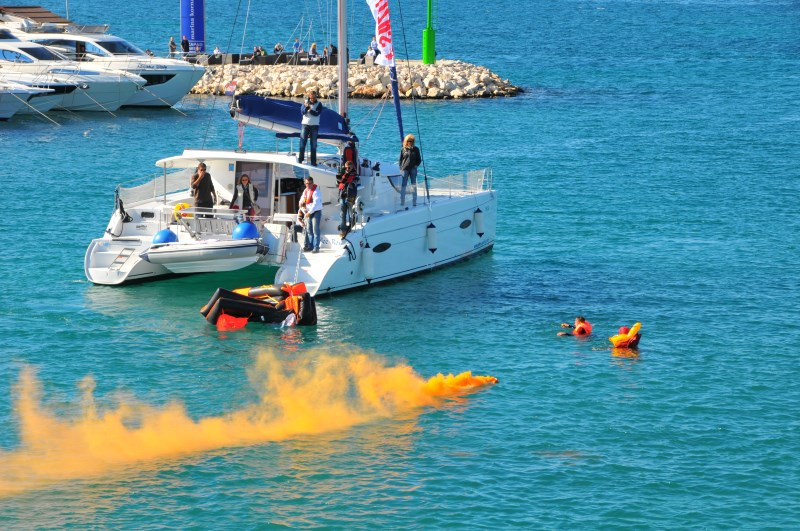 Yacht-Pool Safety at Sea self-inflating life raft at 17th BBS 2015.