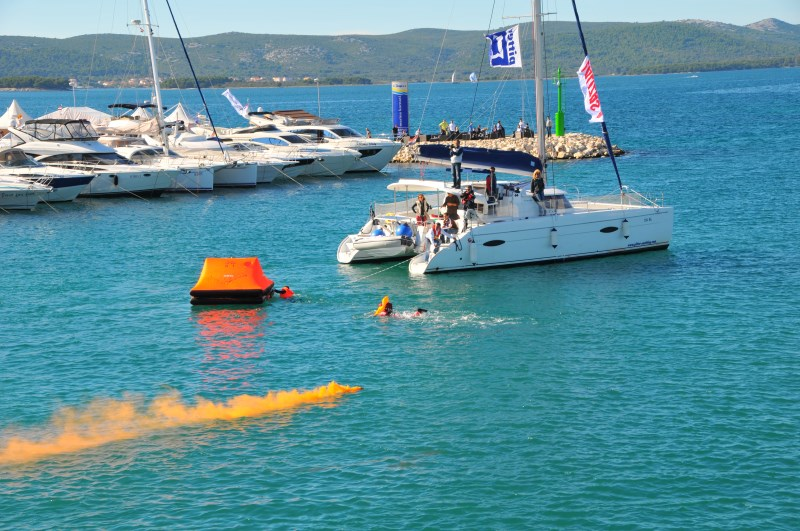 Yacht-Pool Safety at Sea inflated life raft at 17th BBS 2015.
