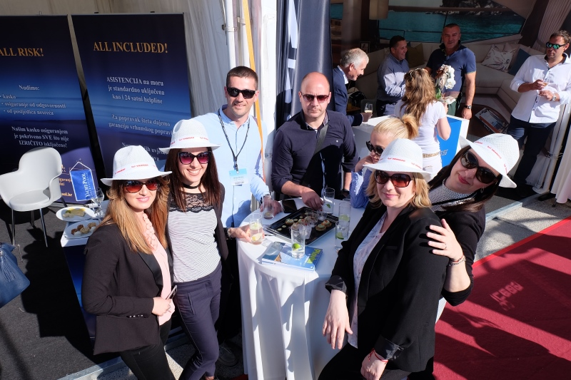 Yacht-Pool team and friends at show Internautica 2017.