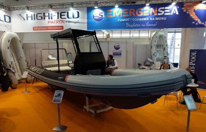 Zagreb Boat Show 2017. Highfield 760 Patrol EmergenSea