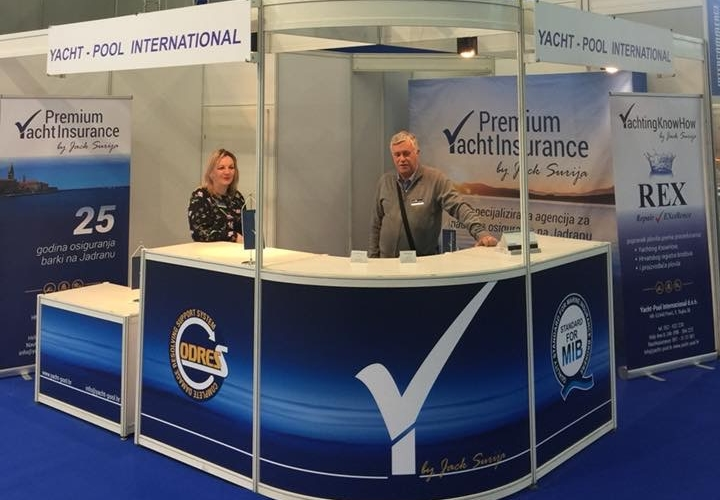 Premium Yacht Insurance by Jack Šurija booth at 27th Zagreb boat show 2018
